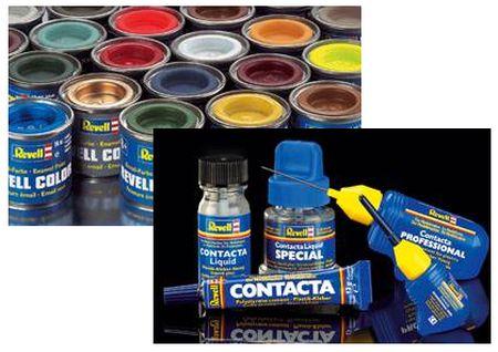 Farben, Kleber, Werkzeuge