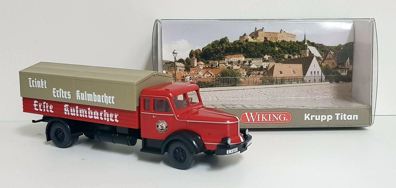 "Wiking: Krupp Titan Pritschen-Lkw ""EKU - Erste Kulmbacher"""
