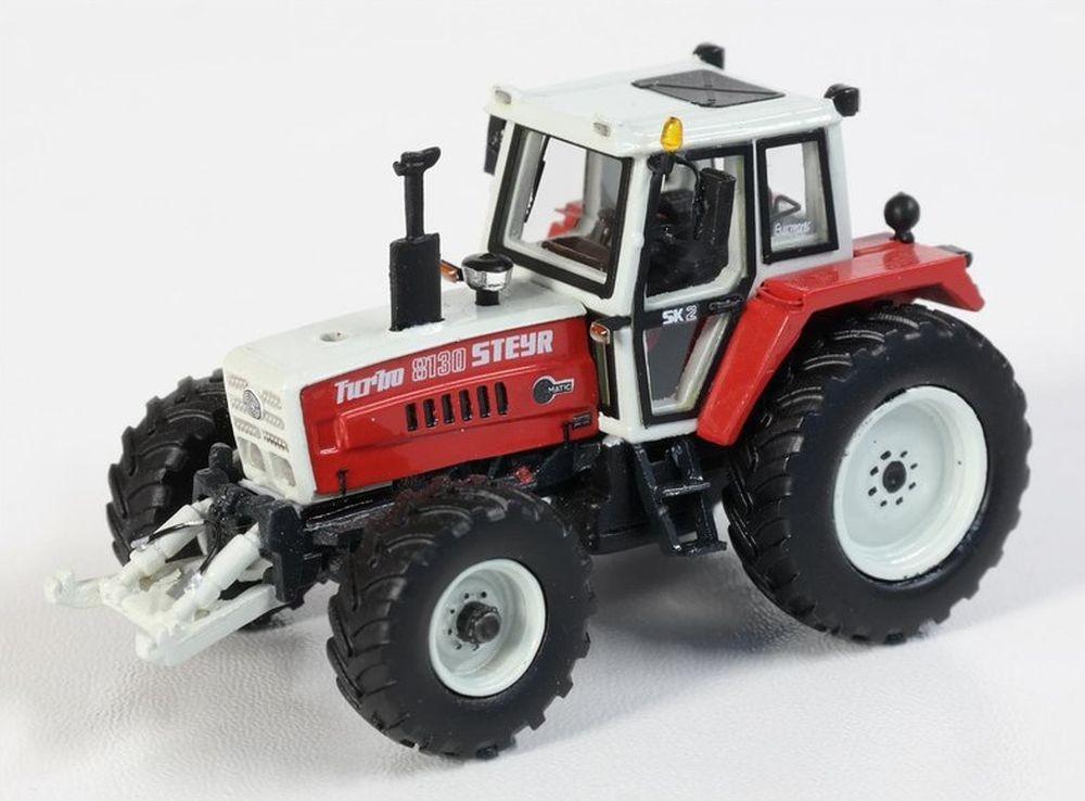 Mo-Miniatur (1/87): Steyr 8130 mit Fronthydraulik