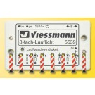 Vießmann H0: Warnbaken, 8 Stück, mit Lauflichtelektronik