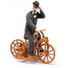 Busch: Daimler-Reitwagen mit Figur